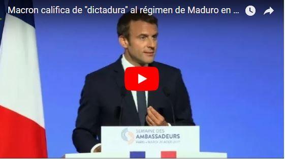 Presidente de Francia asegura que Maduro es un Dictador