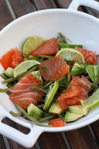 Le saumon, c'est un poisson que j'adore. Il est rapide à cuisiner, s'accomode de milles façons, a une chair pas trop fragile qui adore être mariné, grillé, rôti, cuit à la vapeur ou poêlé. Par cont...