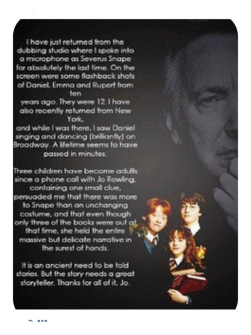 Alan Rickman is brilliant.