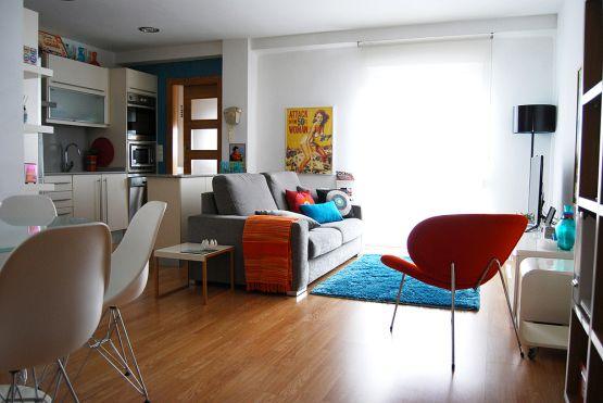 muebles de ikea y de diseño hogares españoles estilo nórdico estilo moderno contemporáneo distribución diáfana decoración estilo nórdico y r...