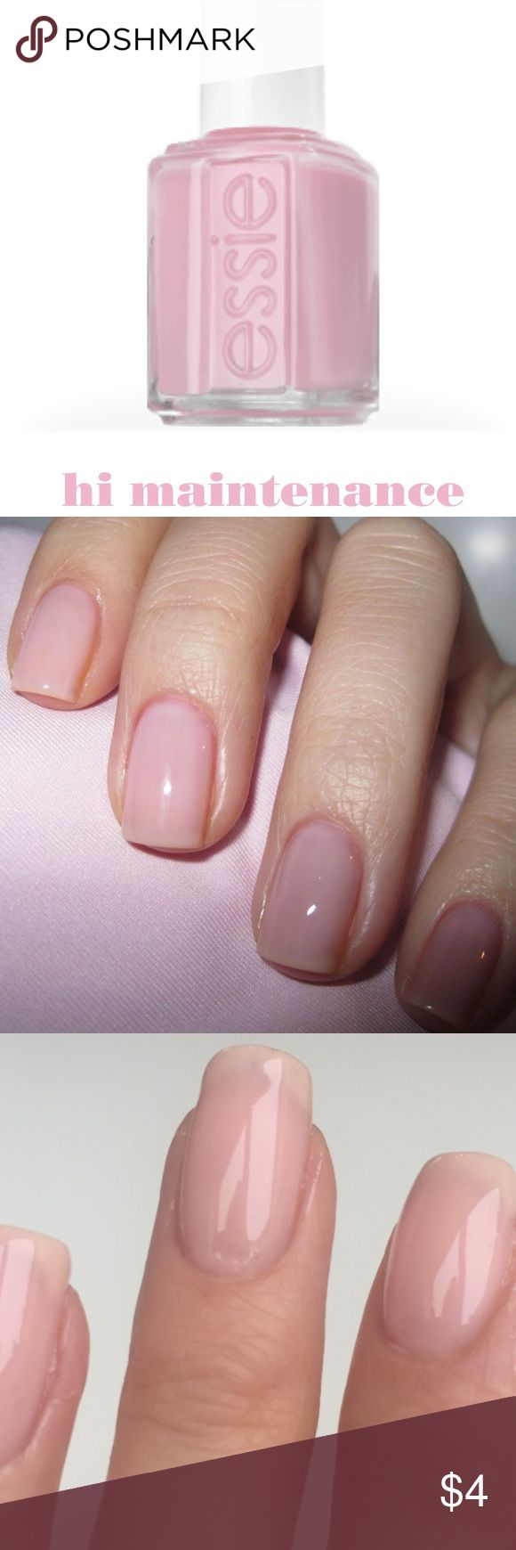 Essie Hi Maintenance An innocent sheer pale pink Essie Makeup