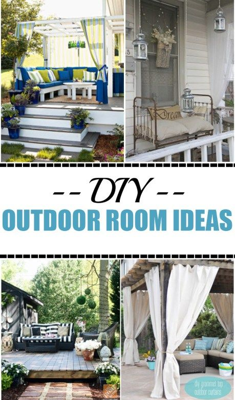 DIY Outdoor Rooms on a Budget -