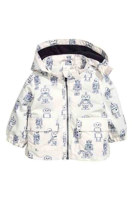 Fleece-lined outdoor jacket