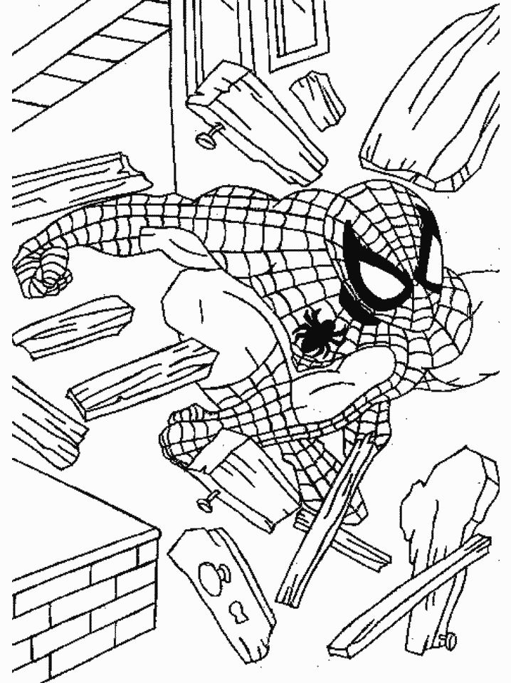 Action Spectacular Spiderman Coloring Pages Free Picture All About For Kids