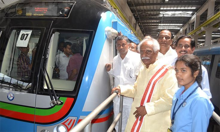 Hyderabad Metro will be state of the art: Bandaru Dattatreya Read complete story click here http://www.thehansindia.com/posts/index/2015-05-04/Hyderabad-Metro-will-be-state-of-the-art-Bandaru-Dattatreya-148644