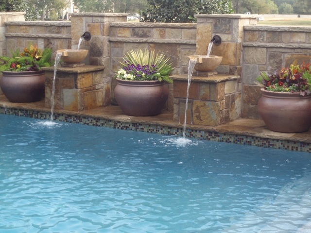 34 best images about pool on pinterest - Swimming pool water feature ideas ...