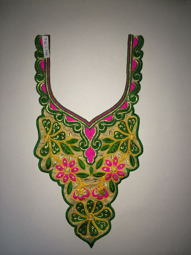 Embroidery neck.