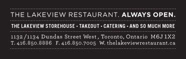 The Lakeview Restaurant - Toronto, Ontario