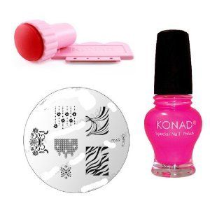 Konad Stamping Nail Art M69 Zebra Pedicure Image Plate+pink Special Polish+stamper by Konad. $18.49. +STAMPER AND SCRAPER. M69 ZEBRA PEDICURE + SPECIAL POLISH PINK 12MM. M69 ZEBRA PEDICURE + SPECIAL POLISH PINK 12MM +STAMPER AND SCRAPER