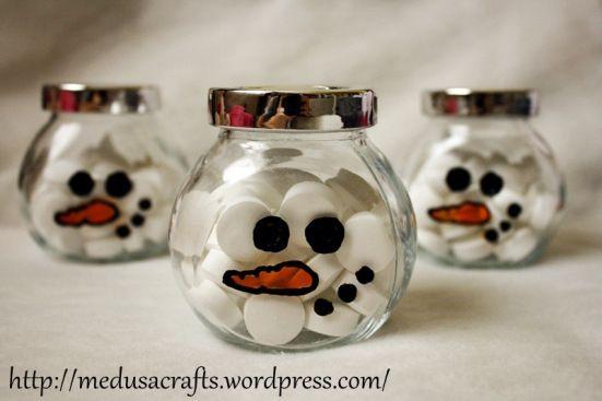 snowman sugar bowl