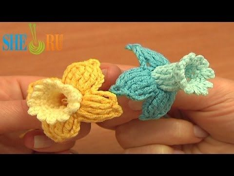 Fuchsia Flower Free Crochet Pattern Tutorial 78 Beautiful 3D Flowers - YouTube. ☀CQ #crochet #crochetflowers  http://www.pinterest.com/CoronaQueen/crochet-leaves-and-flowers-corona/