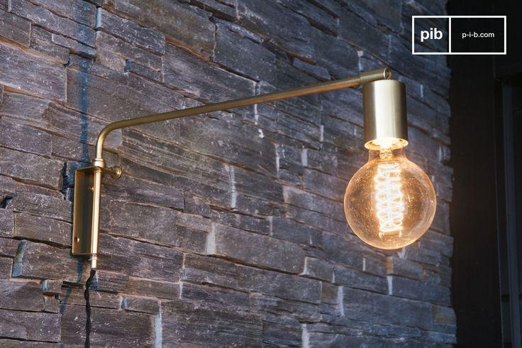 Die vollständig aus Metall gefertigte Lampe Janika ist in einem nordischen vintage Stil gehalten und versprüht mit seiner goldenen Verarbeitung Eleganz.