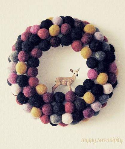 Must make a felt ball wreath - could be for any season depending on the colors :)