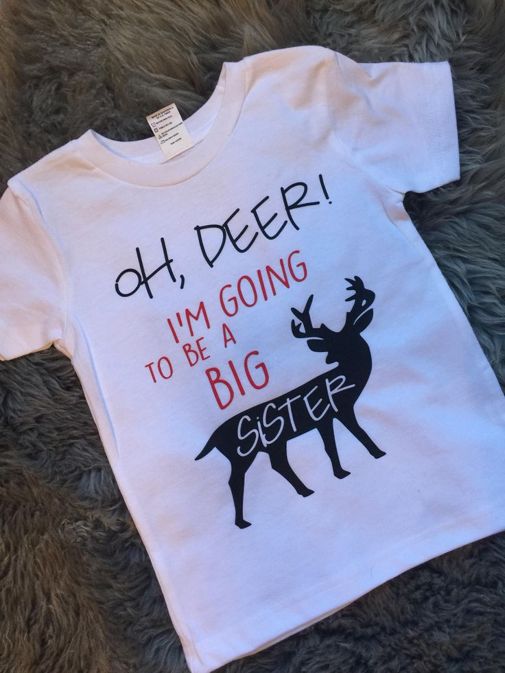 OH DEER! I'm going to be a Big Sister announcement tshirt,  bodysuit, pregnancy announcement, new baby, soon to be big sister, siblings by DizzyBellDesigns on Etsy