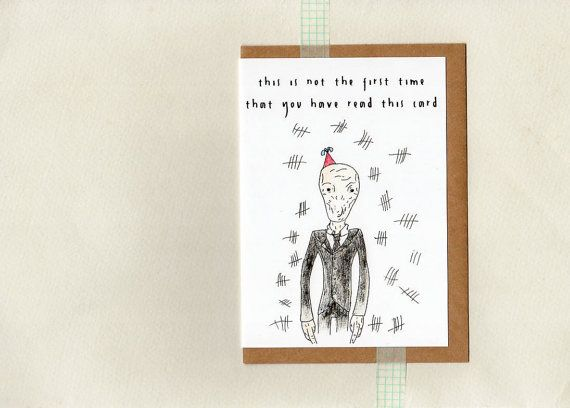 SILENTS birthday card . dr who geek whovian by ThePaisleyFive