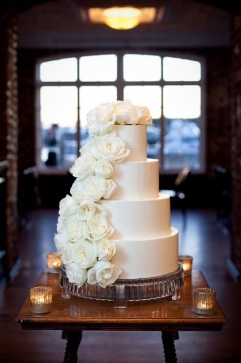 Wedding ● Cake ● Simple White Elegant. Instead of smooth tiers, I would like a slight lace effect