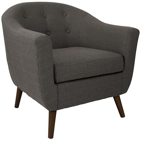 Best Rockwell Charcoal Gray Upholstered Accent Chair 7W173 640 x 480