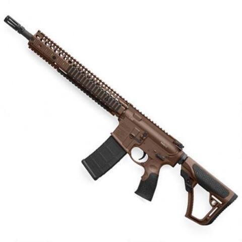 """Daniel Defense M4A1 AR-15 Semi Auto Rifle 5.56 NATO 14.5"""" Barrel 30 Rounds RIS II Handguard Collapsible Stock Mil Spec+ Cerakote"""
