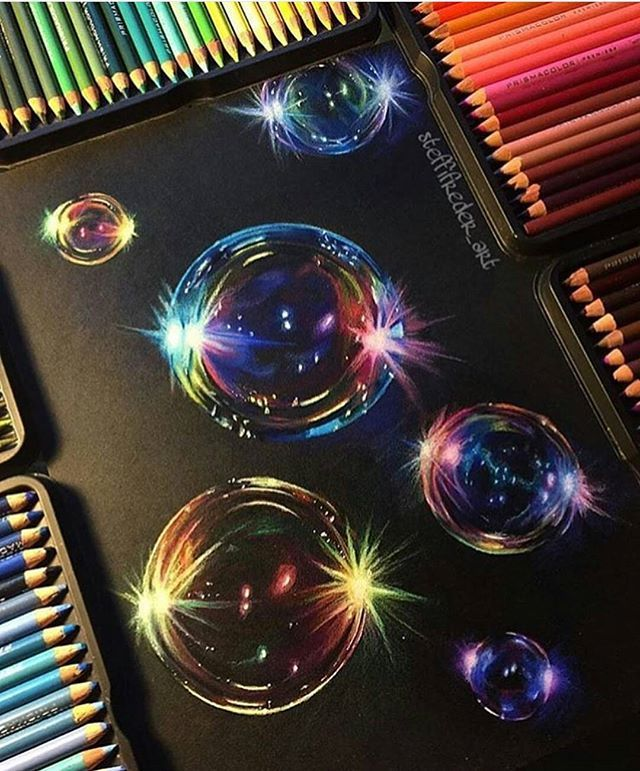 Beautiful bubbles by @steffifreder_art !! . Follow our fellow page @arts_secret !! . Tag someone who would love this