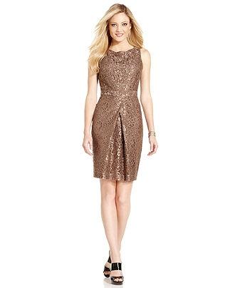 Jones New York Dress Sleeveless Lace Pleated Womens Dresses Macy 39 S