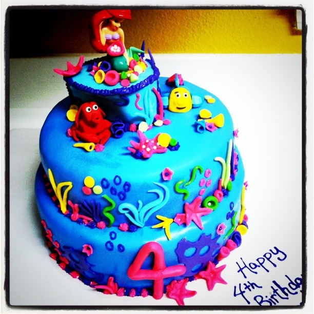 Little mermaid birthday cake FB: Heavens to Betsy cakes