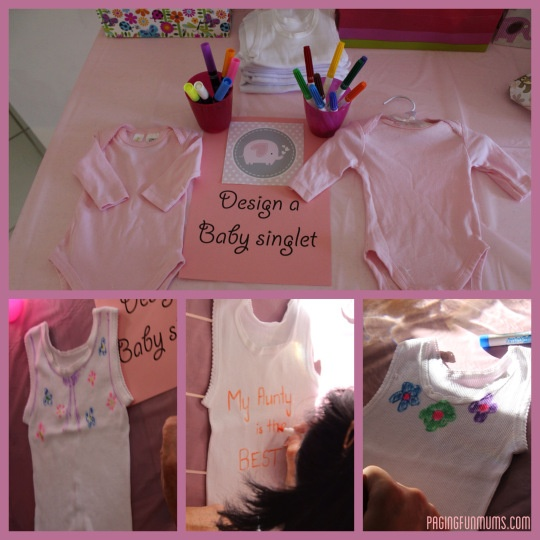 Baby Shower ideas! Design a Baby Singlet using Fabric Pens!