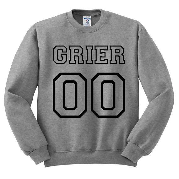 Grey Crewneck Jersey Numbers Hayes Grier by TeesAndTankYouShop