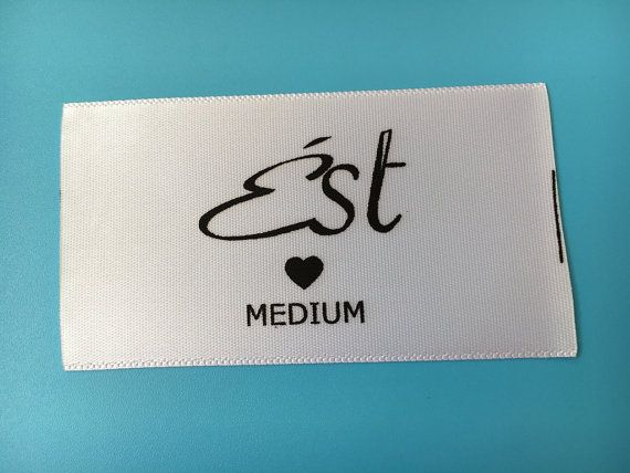 500 Custom Printed Clothing Labels Personalized Nametapes