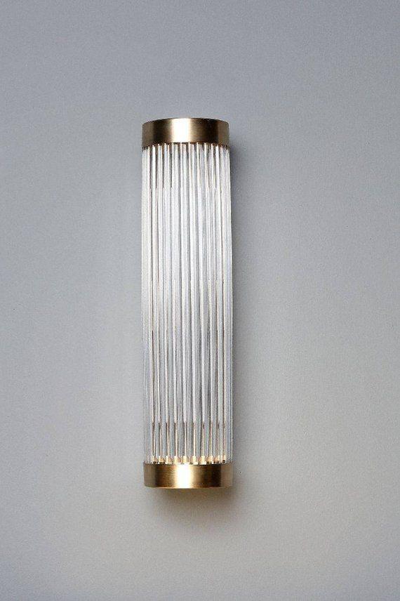 ERTE Custom Moderne Art Deco Verre Tige Applique Murale Lampe | Etsy