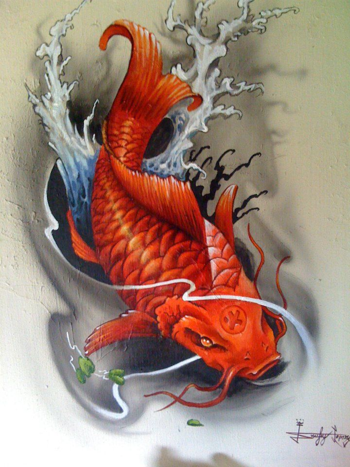121 best images about tattoos on pinterest tiger art for American koi fish