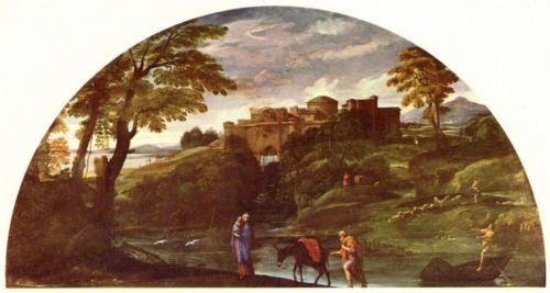 The Flight into Egypt - Annibale Carracci