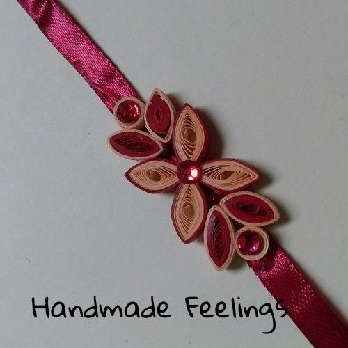 Handmade Paper Quilled Rakhi