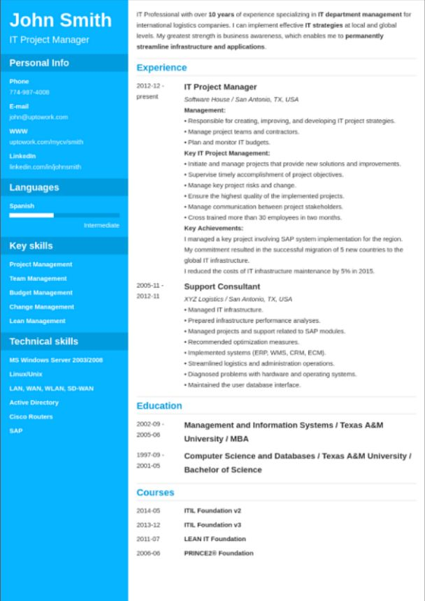 12 best ielts images on Pinterest Resume layout, Best cv - address list template