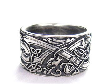 norse wedding rings viking wolf ring sterling silver viking ring celtic 6201