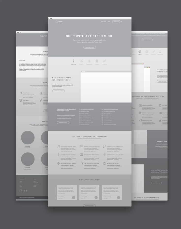 Product Website wireframes by @ponsgroup #ux #ia #uxdesign #wireframes #dribbble