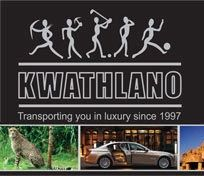 Kwathlano - Transporting you in luxury since 1997. • Airport Transfers • Chauffeur Drive Services • Taxi / Cab Transfers • Car Rentals • Bus / Coach Rentals • Tours - Half -, Full Day & Overland • Game Viewing Safaris