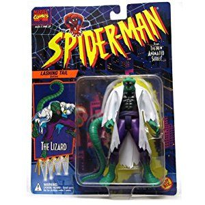 Amazon.com: SPIDER-MAN ANIMATED SERIES:THE LIZARD LASHING TAIL ACTION FIGURE (WHITE SHIRT): Toys & Games