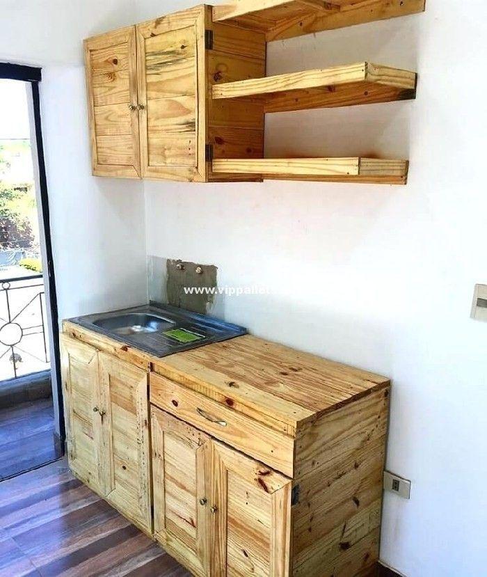 Luxury Diy Wooden Pallets Cabinet Ideas Pallet Kitchen Cabinets Pallet Kitchen Wooden Pallet Furniture