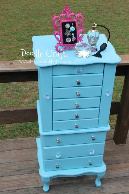DIY Furniture  : DIY Vintage Jewelry Armoire Redo