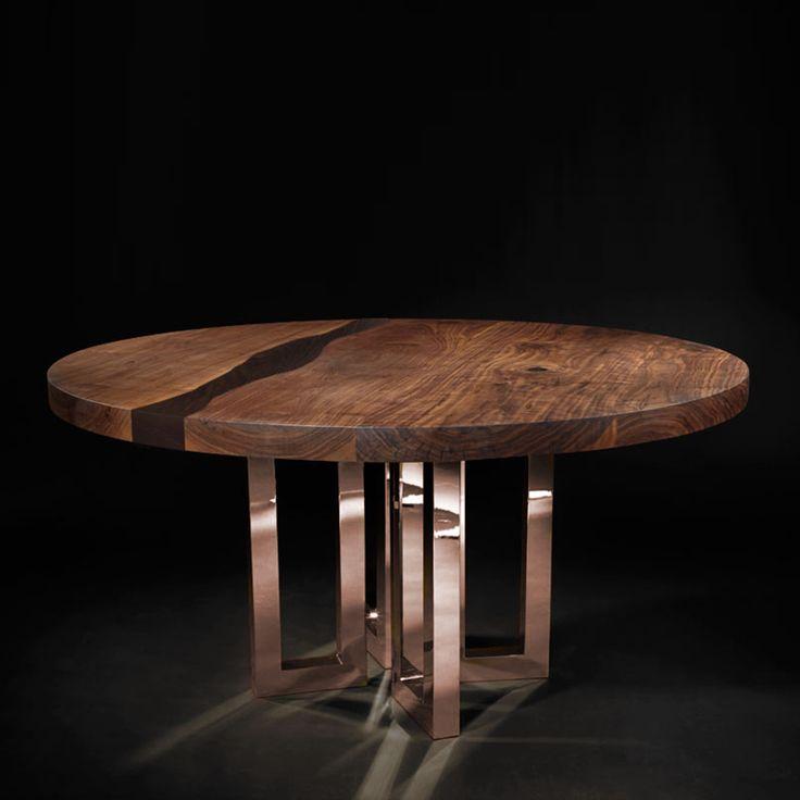 Il Pezzo 6 Round Table Black II - Shop Il Pezzo Mancante online at Artemest
