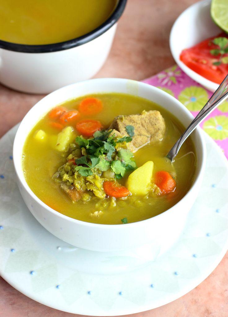 Split Pea soup and Pork Soup (Sopa de Alverjita y Cerdo) |mycolombianrecipes.com