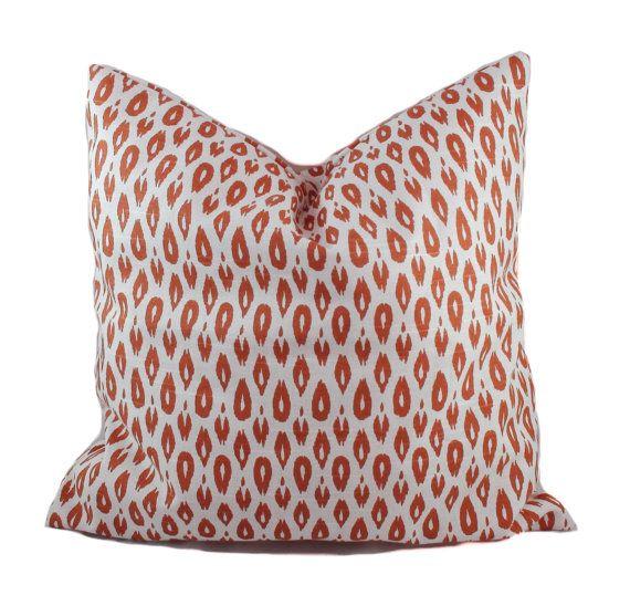 orange pillow covers throw pillows toss pillows couch cushions sofa pillow