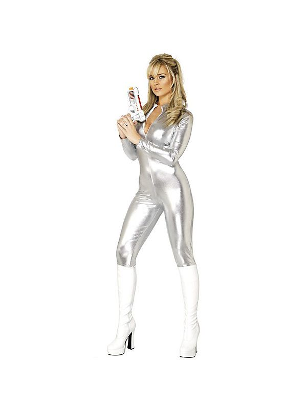 Sexy Silver Zip Up Womens Costume #halloween #sexycostumes #costumes