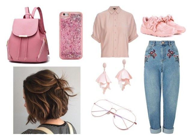 """La Amabilidad No La Necesito"" by valentina-carvajal92005 on Polyvore featuring moda, Topshop, Miss Selfridge, Puma, Oscar de la Renta Pink Label y ban.do"