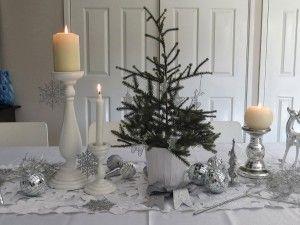 weiße Weihnachtstabellendekorationen   – Modern Architecture Design & Best Home Decorating ideas