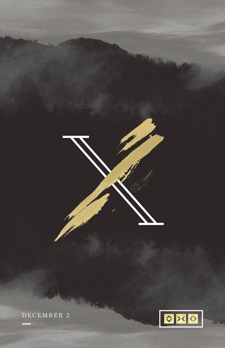I really like the second X mark. Its like a violent paint brush stroke, it looks wild