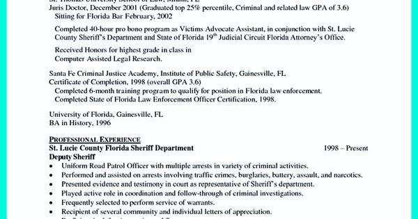 Best Criminal Justice Resume Collection from Professionals Vina - criminal law clerk resume
