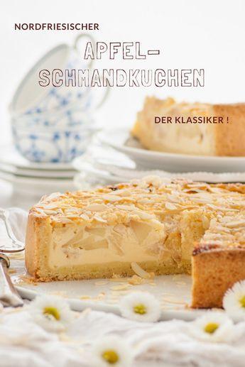 Nordfriesischer Apfel-Schmandkuchen - ein Kuchen Rezept, das ein echter Klassiker ist! Rezept von herzelieb.