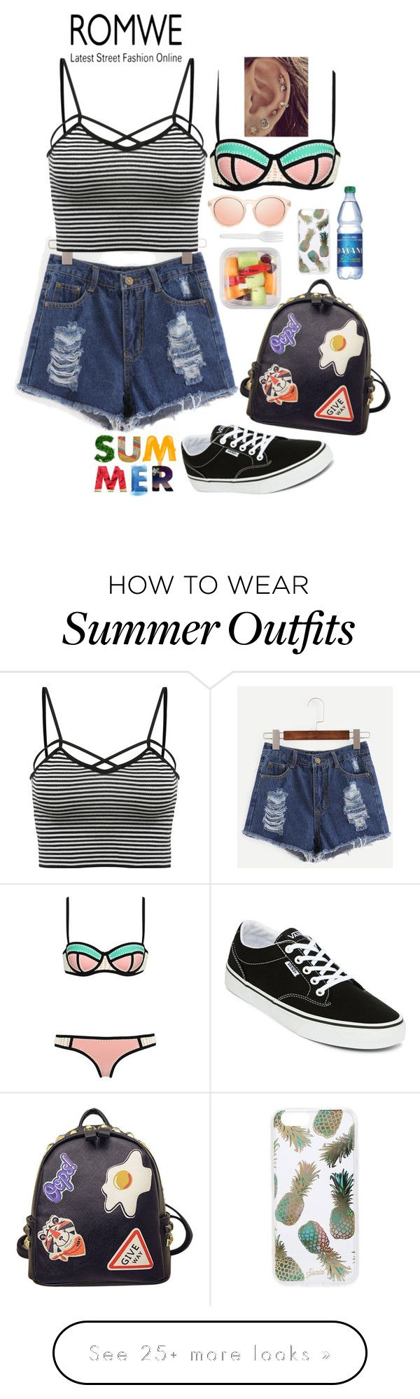 """""""sunset outfit"""" by giulisdasf on Polyvore featuring Cotton Candy, Vans, WithChic, Genuine Joe and Sonix"""