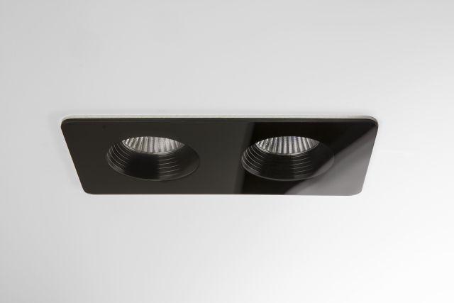 VETRO TWIN Astro - zapustené LED svetlo - čierny kov - IP65